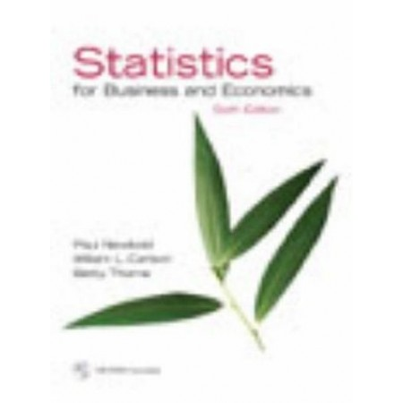 Statistics for Business and Economics, 6th Edition (Include CD-Rom)