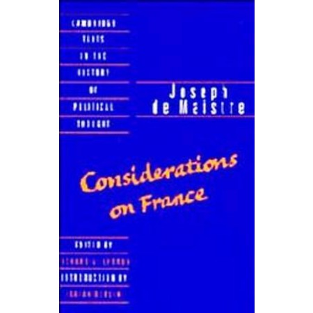 Joseph de  Maistre: Considerations on France