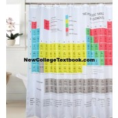 Chemistry Periodic Table Elements Shower Curtain Bath Science University Student Hall Home