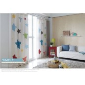 Color Stars White Windows Curtains Drapes Kids Children Living Bedroom Grommet Pinch Pleat Hooks 2 Panels Lined Customize Size