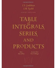 Table of Integrals, Series, and Products, 6th Edition