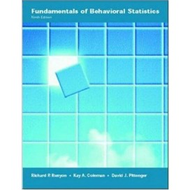 Fundamentals of Behavioral Statistics, 9th Edition