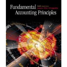 Fundamental Accounting Principles F.A.P. w/ CD, NetTutor & Powerweb, 16th Edition