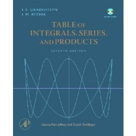 Table of Integrals, Series, and Products, 7th Edition w/ CDRom HARDCOVER