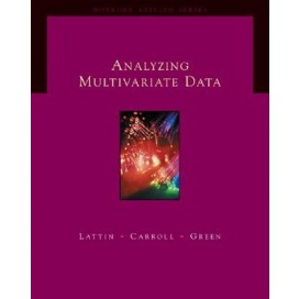 Analyzing Multivariate Data, 1st Edition (Include CD-Rom)