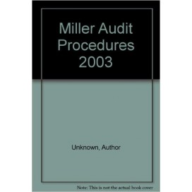 Miller Audit Procedures With CDROM